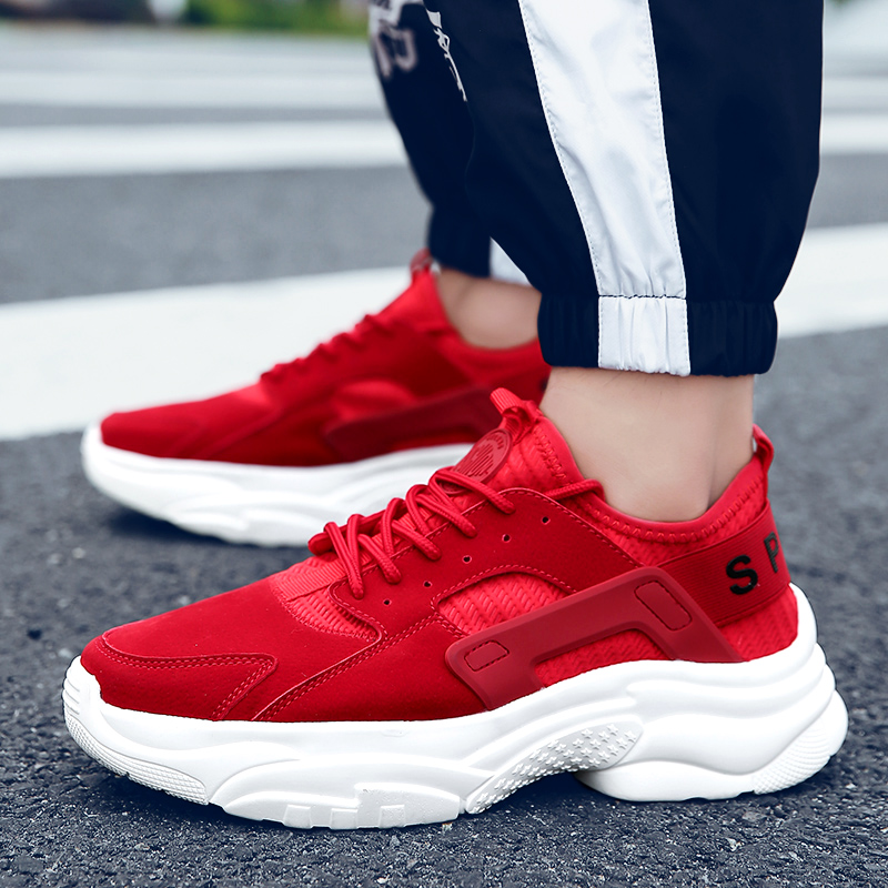 Sneakers Breathable Footwear Walking-Shoes Men's Flats Outdoor Big-Size Fashion Brand