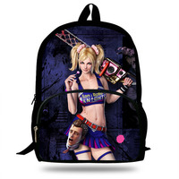 Lollipop Chainsaw Children Schoolbags Girls POP PC Game Shoulder Bags Custom Made Bandolera Hombre Backpacks For Kids Students