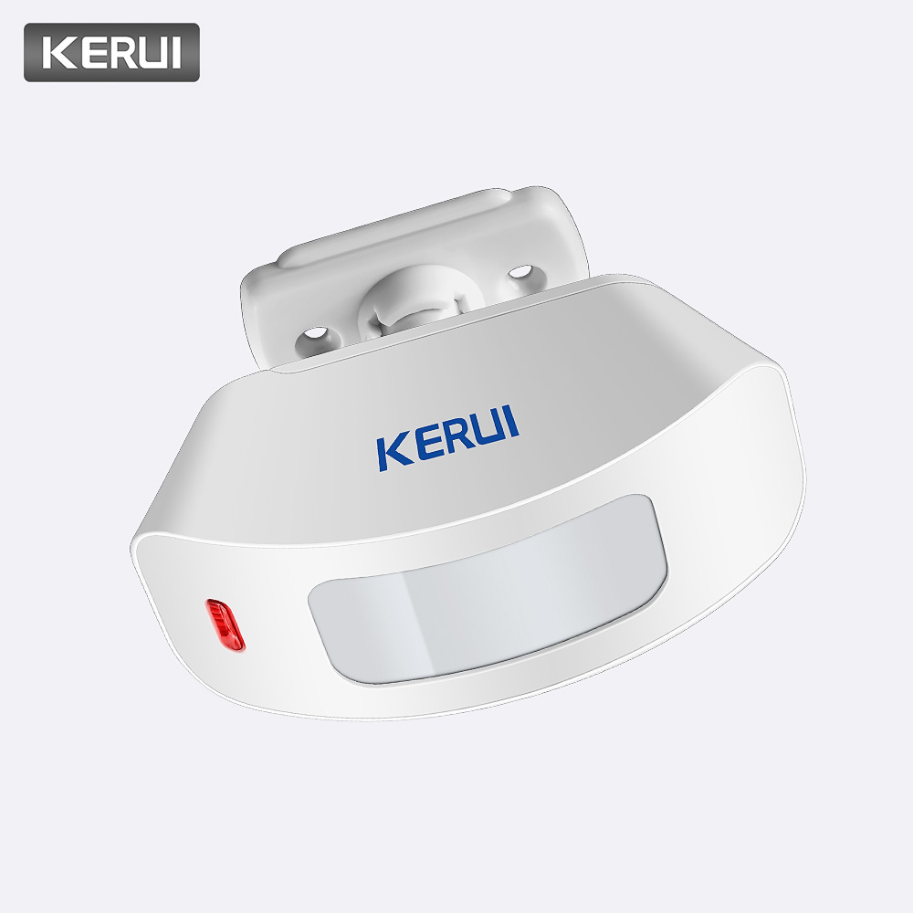 KERUI Wireless Curtain PIR Motion Sensor Internal Antenna Infraid PIR Detector Low-Power Circuit Sensor 433MHz For Alarm System