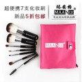 7 Pcs Kit de Pincéis de Maquiagem Profissional Definida Pincel de Maquiagem Para O Rosto Cuidados Com a Moda Mini Bolsa de Maquiagem