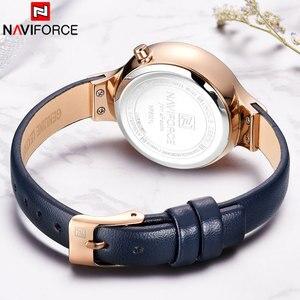 Image 5 - NAVIFORCE Frauen Uhren Top Luxus Marke Damen Quarz Uhren Echtem Leder Armband Beiläufige Handgelenk Uhren Geschenk Für Mädchen