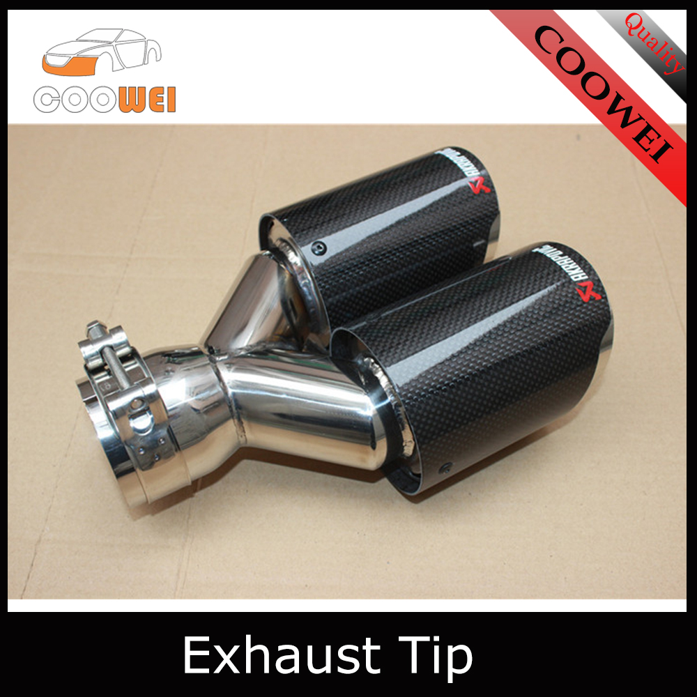 Universal Newest Carbon Fiber Akrapovic Exhaust Pipe Tip muffler tip car styling