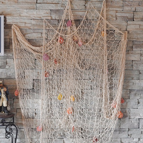 Shell Hanging Fish Net Nautical Ocean Theme Home Wall Decor Photography Props 5