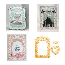 YaMinSanNiO 3 Pcs/lot Metal Cutting Dies Scrapbooking Card Making DIY Embossing Cuts New Craft Heart-shaped Lace Frame Element
