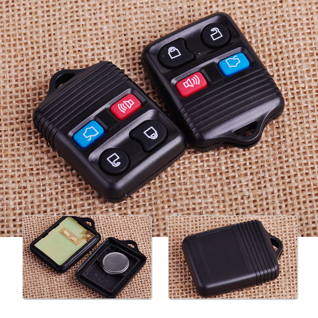 Citall cwtwb1u322 2pcs 4 button remote keyless entry key fob shell case replacement for ford focus