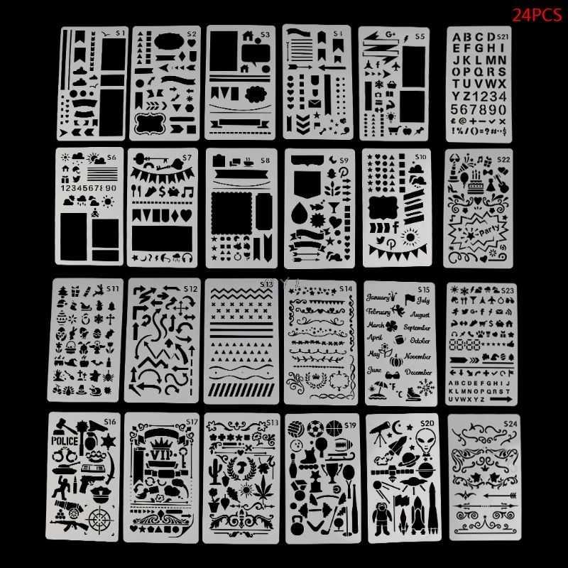 24 листа шаблон для рисования трафареты журнал тетрадь дневник в стиле