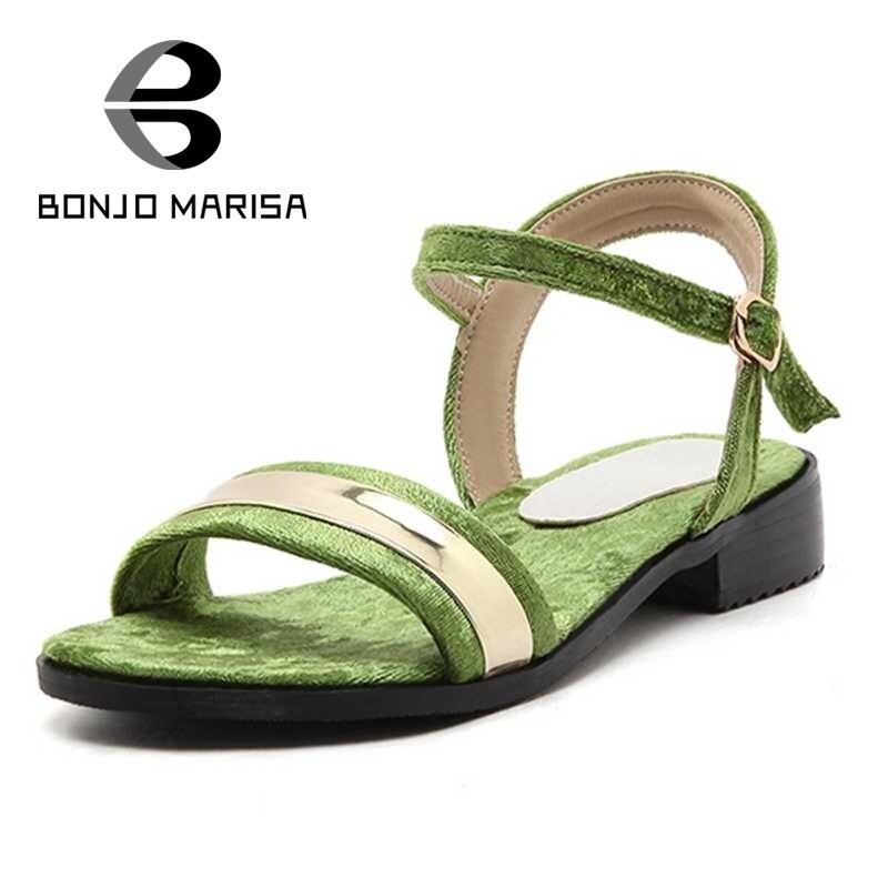 ФОТО BONJOMARISA Shining Belt Strap Women Summer Shoes 2017 Brand Designer Open Toe Platform Sandals Big Size 34-43