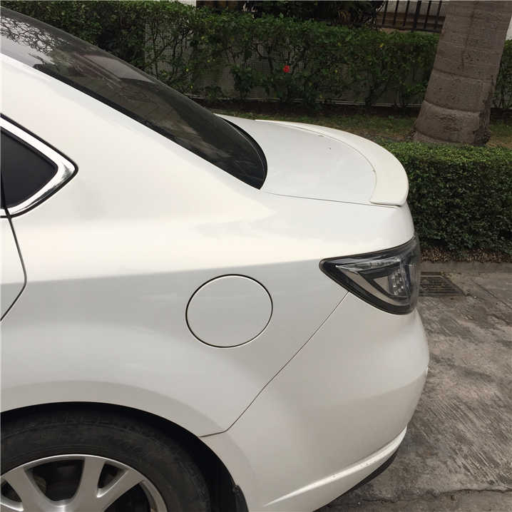 Para Mazda 6 Spoiler 2006-2013 Mazda6 Sedán, jardineras, Spoiler Material plástico ABS de coche ala trasera Color Spoiler trasero