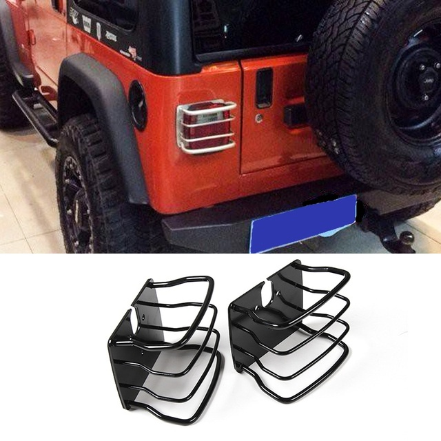 us $46 93 20% off mopai lamp hoods for jeep wrangler tj 1997 2006 car exterior rear tail light lamp cover protect for jeep wrangler accessories in 2006 Ford Mustang Hood