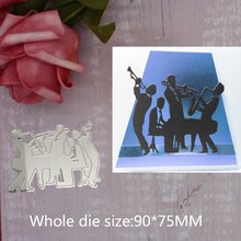 band play Carbon steel Cutting Dies Stencil Craft for DIY Creative Scrapbook Cut Stamps Dies Embossing Paper Hand Craft 9*7.5cm wineglass diy carbon steel cutting dies stencil craft for diy creative scrapbook cut stamps dies embossing paper hand craft