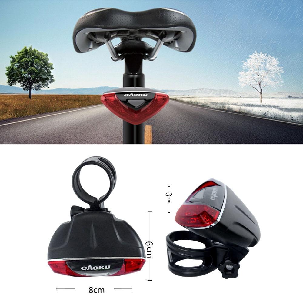 Super Bright 5 LED Bicicleta Bike Light 4 Modes Red ...