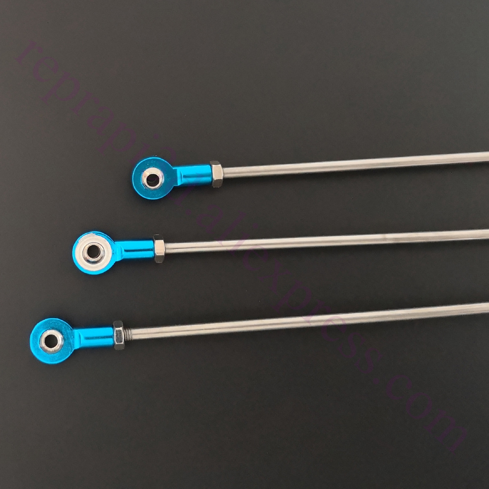 6sets M3 Delta 3D Printer Parts Diagonal push rods Arm Rod Arms with self-lubricating Bearings F/ Kossel 3D Printer & Quadcopter
