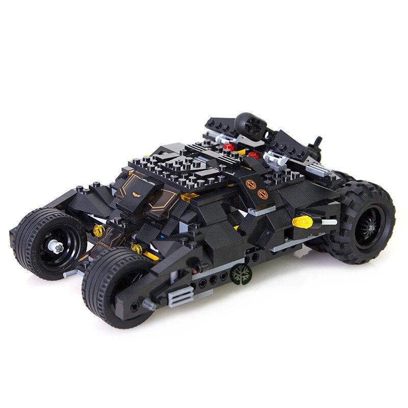DC Superheros Batmobile Car Batman Joker Legoings 7105 Model Building Blocks Brick Educational Toys for Kids Christmas Gift in Model Building Kits from Toys Hobbies