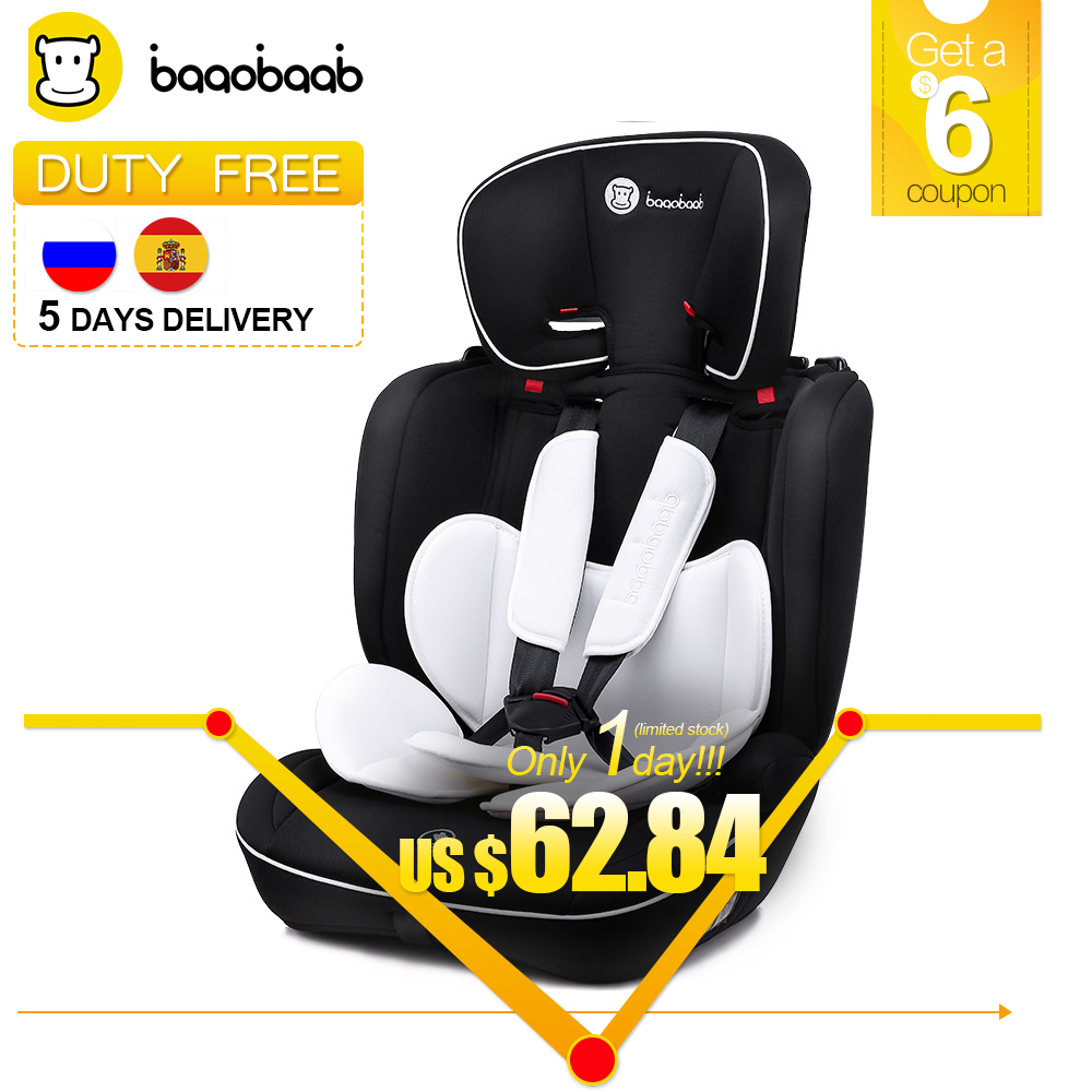 Baaobaab BA05A 9 M- 12 Years Old Child Car Seat Forward Facing 9-36 kg Five-Point Harness Baby Booster Safety Seats child car safety seat 9 month 12 years old baby protection auto car seat forward facing 9 36 kg five point harness safety seats page 1