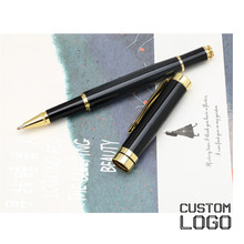 Custom Printed Name Pens Personalized Engraved Metal Ballpoint Pen Classic Business Office Gift Signature Pen Student Stationery 1 pcs big pearl metal ballpoint pen rotate signing pens student stationery office business metal ball pen