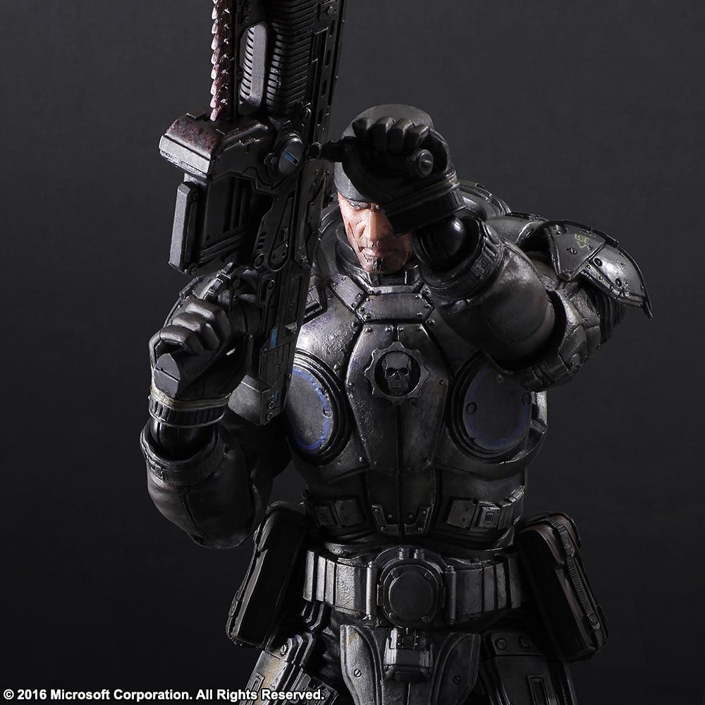 27cm Gears Of Wars Marcus Fenix Action Figure Model Toys