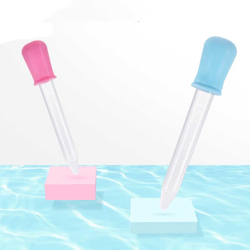 5ML Kind Siliconen Pipette Liquid Voedsel Dropper Kindje Dropper Geneeskunde Feeder Kind Geneeskunde Apparaat Plastic Baby Gebruiksvoorwerpen