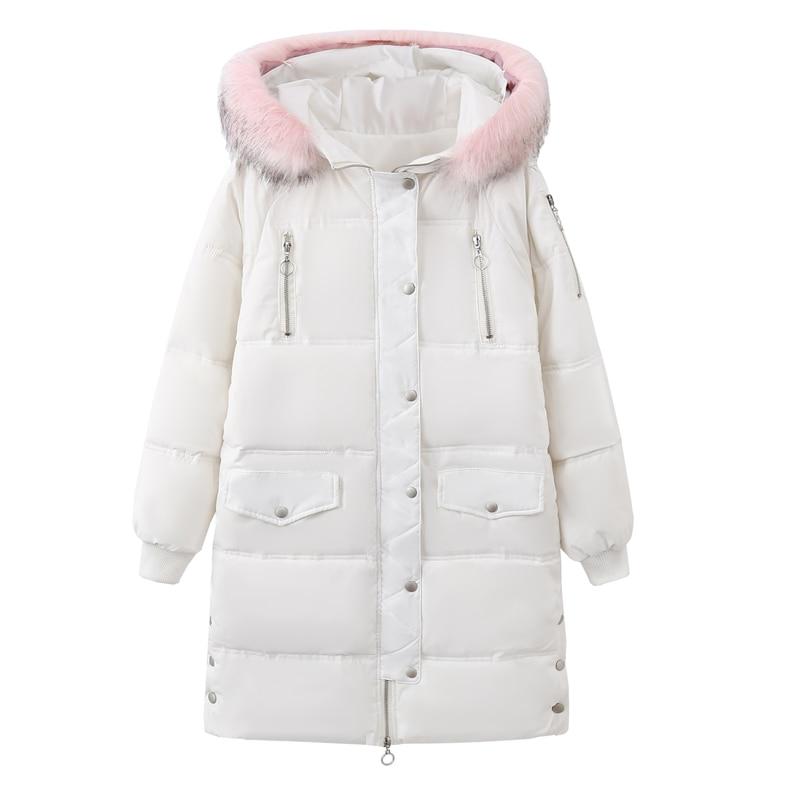 La Nouveau Femmes Épais 5xl Dames Parka Doublure blanc De Col D'hiver Taille Manteau Style Noir Fourrure 2018 Femelle Plus Rembourré Coton Manteaux Veste dIqURwP