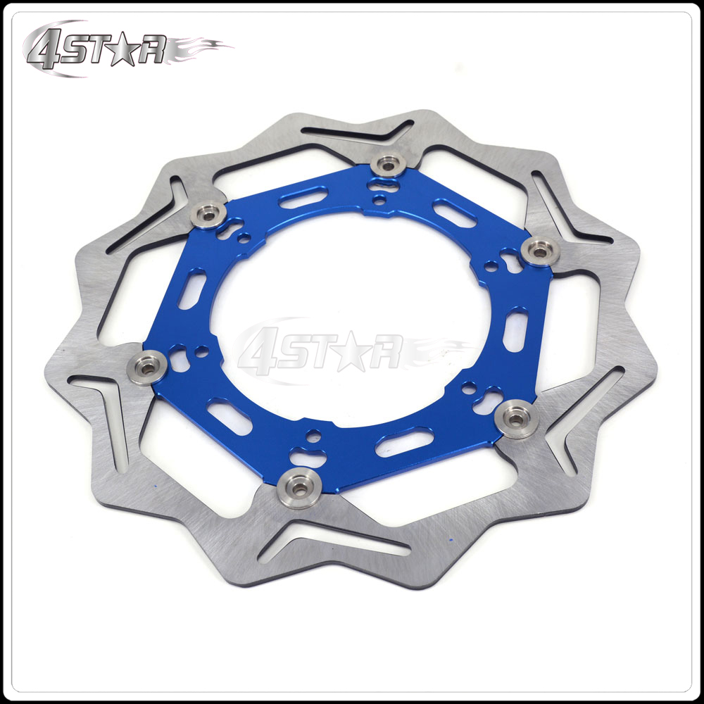 270MM Blue Front Floating Brake Disc Rotor Adaptor For YZ YZF WR WRF 250 400 450 Motorcycle Supermoto Motard Motocross promotion 6 7pcs crib baby bedding 100% cotton bedding kit bed around crib bumper baby cot sets 120 60 120 70cm