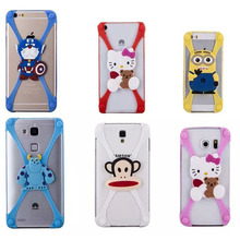 silicon cartoon case for iphone 6s case cover silicone soft transparent 3d brand for apple logo