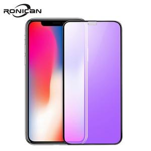 Image 1 - 0.23mm 3D kavisli temperli cam iPhone X RONICAN yumuşak kenar yüksek çözünürlüklü Anti mavi işık ekran koruyucu iPhone XS