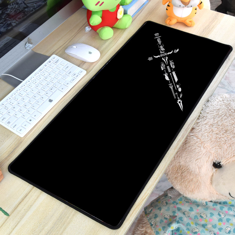 Mairuige High Quality Anti-skid Rubber Material Mousepad Table Mat Wearpon Sword and Knife Pattern Diy Design for Pc Laptop