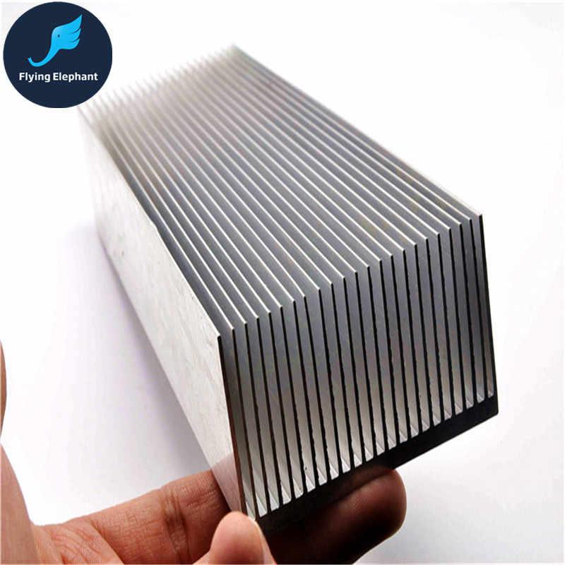 Electronic Radiator Aluminum Dense teeth Heatsink Extruded Heat Sink  Computer Water Cooling System 100/130/150/200/300x69x36MM