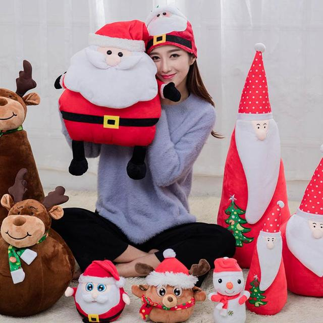 hot sale fashion Multi-functional Santa Claus Doll Warm Hands Pillow Cushions Plush Toys Gift just for you