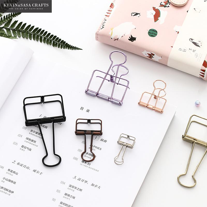 New Metal Binder Clips For Bullet Journal Quality Metal Clips Paper Office Accessories Office Quality Shool Suppliers Bookmark