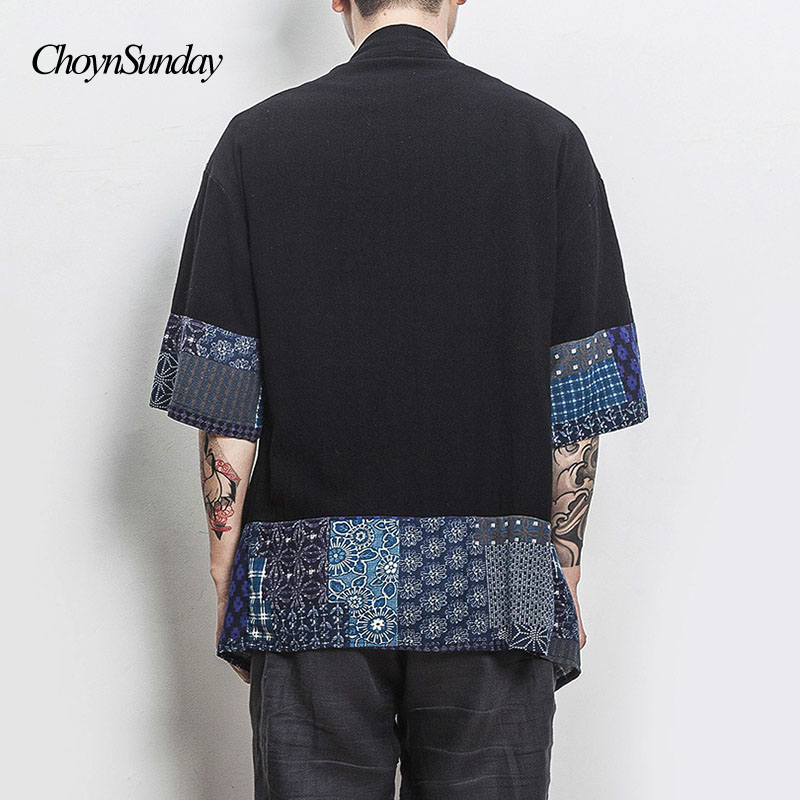 Men's Clothing Kimono Shirt Men Chinese Streetwear Vintage Kimono Shirt Men Linen Kimono Cardigan Men Shirt Plus Size 5xl 2018 X Y
