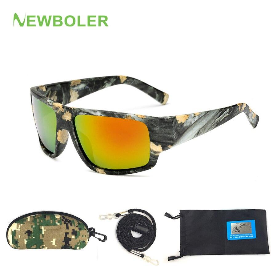 NEWBOLER Vissen Eyeswear Camouflage HD Nachtzicht Bril Rijden Fietsen Gepolariseerde Outdoor Sport Zonnebril Voor Mannen Geel