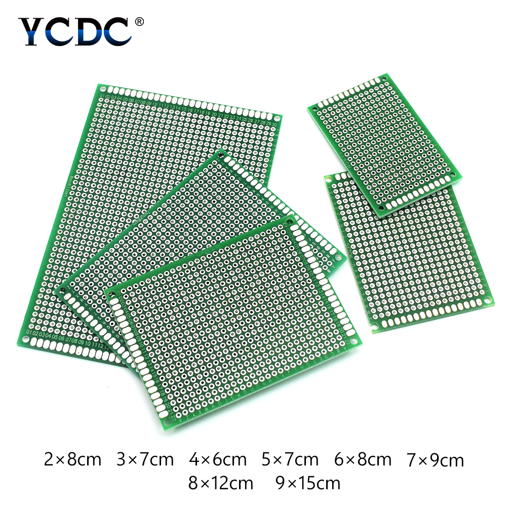 20pcs Tinned Pcb Proto Circuit Board For Electronic Diy Projects 4 Sizes Mix Audio & Video Replacement Parts