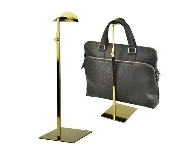 Adjustable gold Metal Handbag <font><b>Display</b></font> Rack Women Handbag Bag <font><b>Display</b></font> Stand Holder wig hat holder Rack