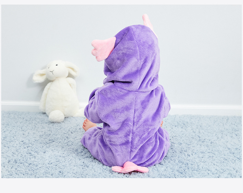 HTB1IKRAR7voK1RjSZFwq6AiCFXaa Baby rompers new born baby girls clothes Hooded pajamas mameluco bebe warm winter animal costumes roupas de bebe dropshipping