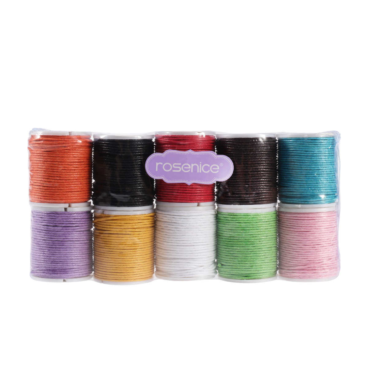 ROSENICE Strings Ropes Cords 10 Colors 10M 0.5mm for DIY Necklace Bracelet Craft Making