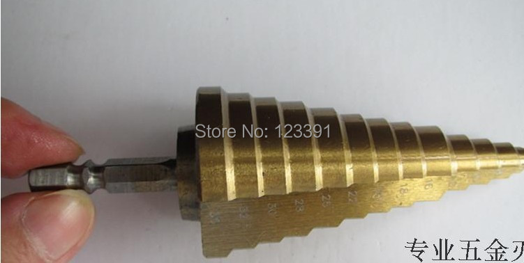 1pc 1/4 HEX shank 6-35mm HSS straight step Drill Bit Set core drill bit TIN Coated cone Step Drill Bit Set hole cutter HSS 4241 1pc 1 4 hex shank 6 22mm hss straight step drill bit set core drill bit tin coated cone step drill bit set hole cutter hss 4241