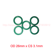 OD 26mm x CS 3.1mm viton fkm rubber seal o ring oring o-ring gasket 2piece size 550mm 542mm 4mm viton o ring seal dichtung green gasket of motorcycle part consumer product o ring
