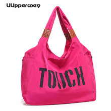Top-handle Shopping Bag Korean Style Handbag Women Big Nylon Shoulder Beach Casual Tote Large Letter Print Sac Femme Bolsa
