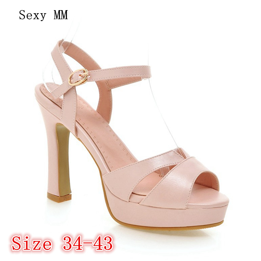 Summer Pumps Women Peep Toe High Heels Party Wedding Platform Gladiator Sandals Woman High Heel Shoes Plus Size 34 - 40 41 42 43 phyanic bling glitter high heels 2017 silver wedding shoes woman summer platform women sandals sexy casual pumps phy4901