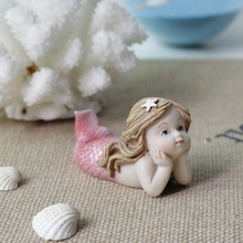 European fairy tales Mermaid Kawaii resin Crafts fairy garden Figurines Miniatures fish tank Accessories creative birthday gifts traditional russian fairy tales reflected in lacquer miniatures
