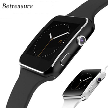 Betreasure Curved Screen Bluetooth X6 Smart Watch Clock For Android iOS Phone With Camera Support SIM / SD TF Card Smartwatch