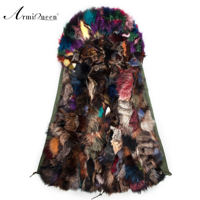 2015 new arrival military style parka jacket with fox fur