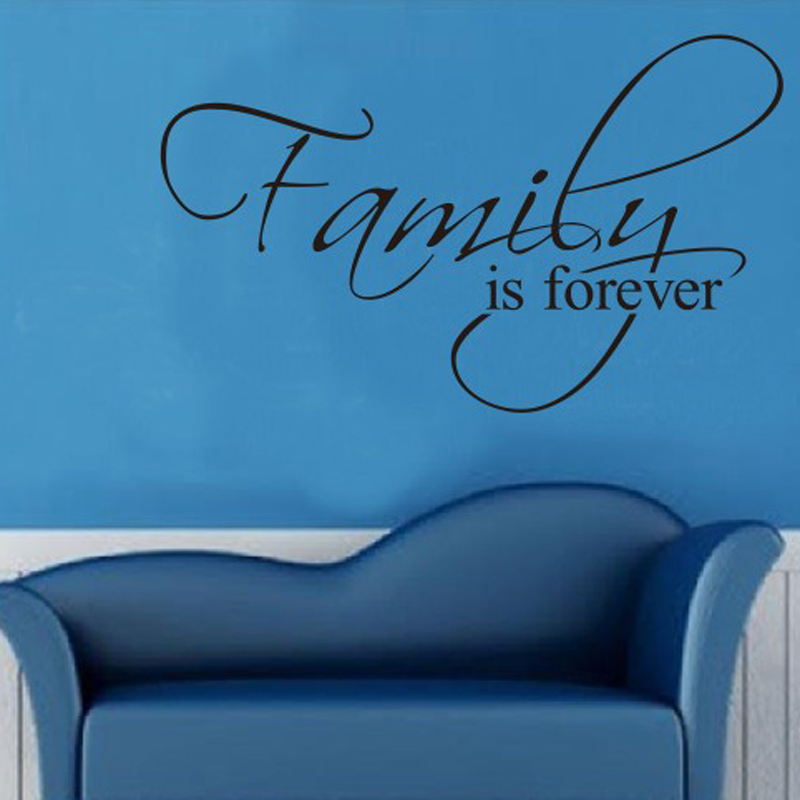 aliexpresscom buy family is forever home decor quotes wall decals decorative adesivo de parede removable vinyl wall stickers living room bedroom from - Home Decor Quotes