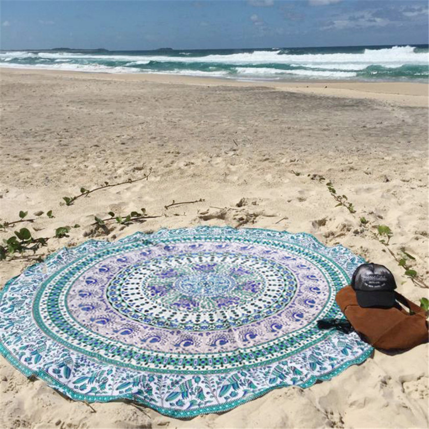 2018 drop shipping Table cover Home Deco High Quality Round Beach Pool Home tablecloth Shower Towel Blanket Table Cloth Yoga Mat