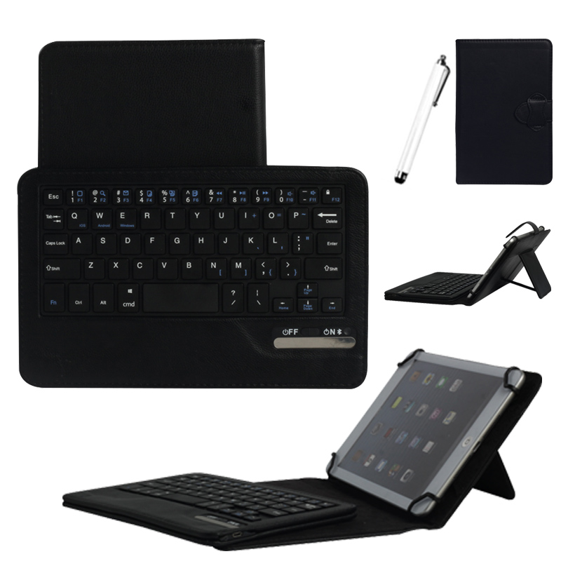 Eagwell New Universal Bluetooth Keyboard With PU Leather Case For 7-8 inch Tablet PC Soft and durable Case With Keyboard