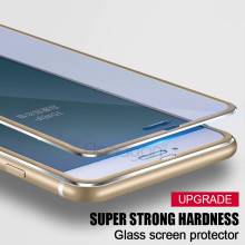 3D Aluminum alloy Tempered glass For iphone 6 6S 7 Plus 5 5S SE Full 9H screen protector film For iPhone 7 6 Tempered glass