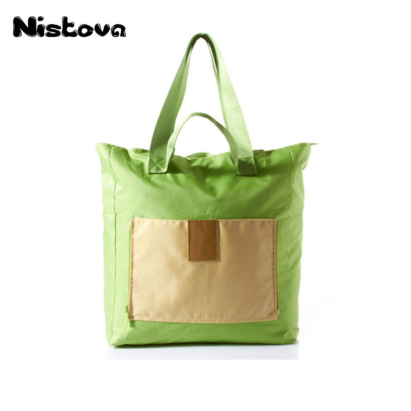 Travel Waterproof Wash Bags Folding Clothing Shopping Storage <font><b>Miscellaneous</b></font> <font><b>Handbag</b></font> Portable Foldable Multipurpose Shoulder Bag