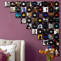 Black Gum Record Vintage Vinyl PVC Hanging Painting Movie Poster Cafe Bar Home Wall Decoration Crafts Creative Retro Ins Mural