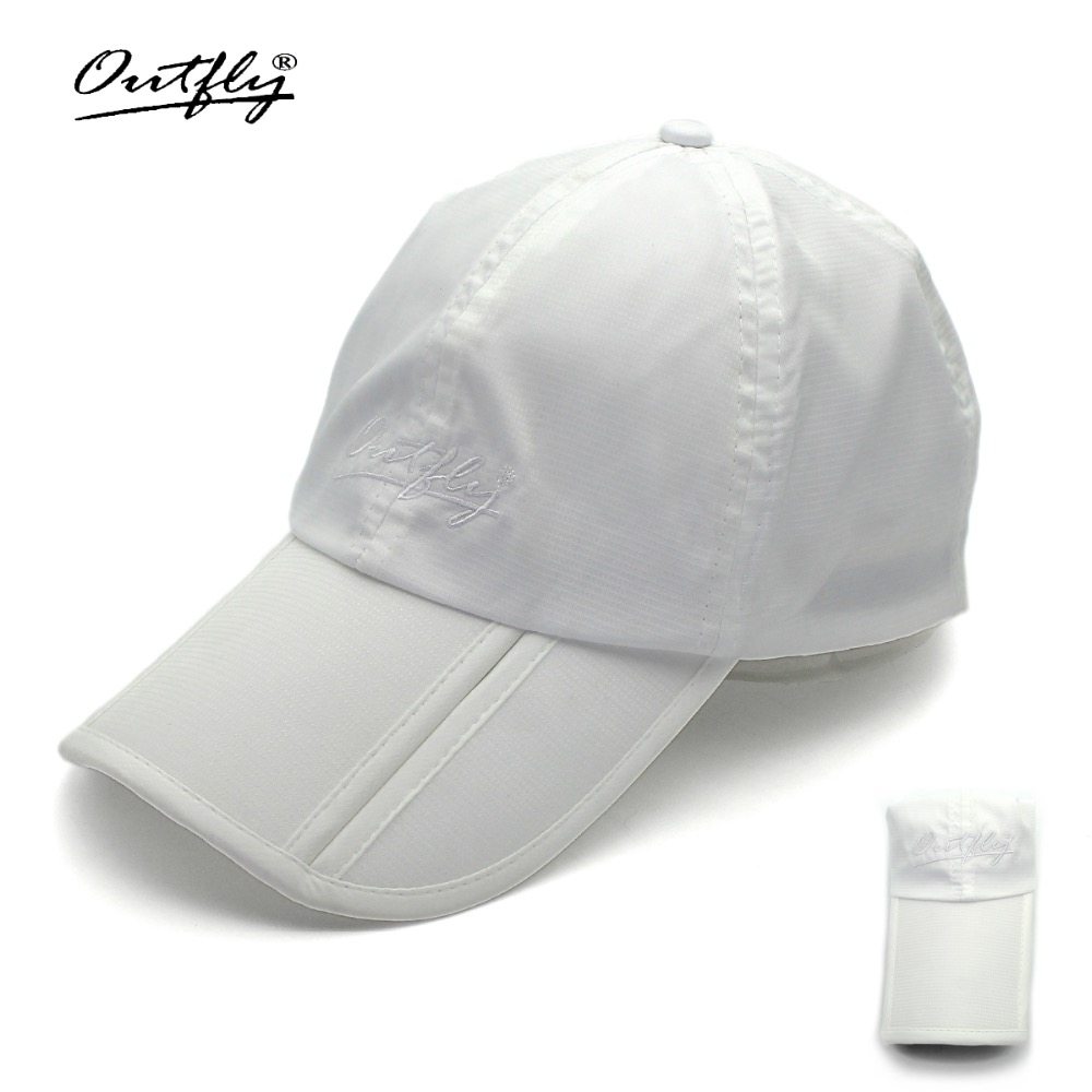 5daa7b41a40 Outfly folding sun hat cap visera cap outdoor foldable quick dry visor cap  brand fishing hat