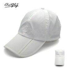6434558aba1 Outfly folding sun hat visera outdoor foldable quick dry visor fishing men  sports cap